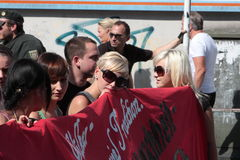 03 Sept. 11 Neo-Nazi Manifestatie in Dortmund Duitsland Royalty-vrije Stock Fotografie