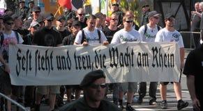 03 Sept. 11 Neo-Nazi Manifestatie in Dortmund Duitsland Stock Foto