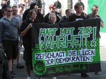 03 Sept. 11 Neo-Nazi Manifestatie in Dortmund Duitsland Royalty-vrije Stock Foto's