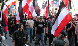03 Sept. 11 Neo-Nazi Manifestatie in Dortmund Duitsland Royalty-vrije Stock Foto