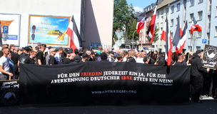 03 Sept. 11 Neo-Nazi Manifestatie in Dortmund Duitsland Stock Afbeeldingen