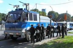 03 Sept. 11 Neo-Nazi Manifestatie in Dortmund Duitsland Stock Afbeelding