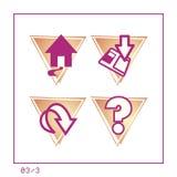 03 set versionrengöringsduk för 3 symbol royaltyfri illustrationer