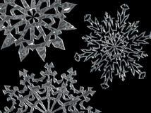 03 snowfiake tła Obrazy Royalty Free