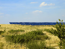 03 sol- paneler Arkivfoto