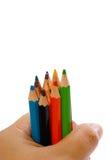 03 tecknande multicolor blyertspennaserie Fotografering för Bildbyråer