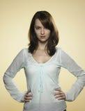03 unga ståendekvinnor Royaltyfria Bilder