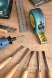 04个工具木工作 库存照片