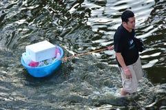 04曼谷小船11月小的泰国 免版税库存照片