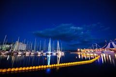 04条靠码头的游艇 免版税图库摄影