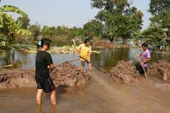 04泰国的洪水 免版税图库摄影