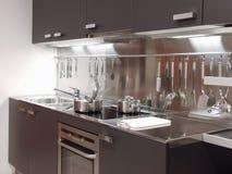 04现代结构的厨房 库存照片