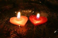 04 κεριά δύο Στοκ Εικόνες