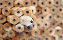 04 σειρές μολυβιών Στοκ Φωτογραφίες