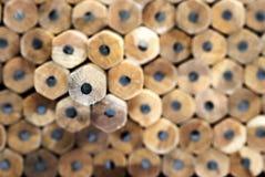 04 σειρές μολυβιών Στοκ εικόνες με δικαίωμα ελεύθερης χρήσης