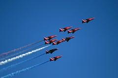 04 стрелки показывают красную команду Стоковые Изображения RF