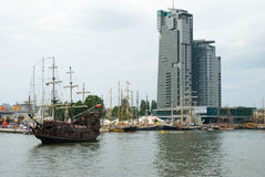 04 07 2009 Gdynia Poland ras statków wysokich Obrazy Stock