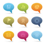 04 Bubble Office Icons Stock Photo