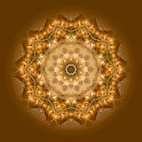 04 buddha inom mandala Arkivfoto