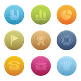 04 Circle Office Icons Royalty Free Stock Image