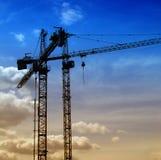04 construction cranes Στοκ Εικόνες