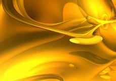 04 dröm- guld- för abstrakt begrepp Royaltyfria Bilder