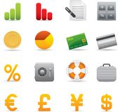 04 Finance Icons. Professional set for your website, application, or presentation. The graphics can easily be edited color individually and be scaled to any size Vector Illustration