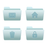 04 Folders Internet Icons. Professional vector set for your website, application, or presentation. The graphics can easily be edited colored individually and be Royalty Free Stock Image