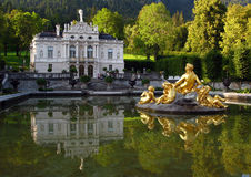04 German linderhof pałacu obrazy stock