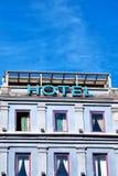 04 hoteli/lów znak Zdjęcie Royalty Free