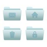 04 icone del Internet dei dispositivi di piegatura Immagine Stock Libera da Diritti