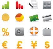 04 icone di finanze Immagini Stock Libere da Diritti