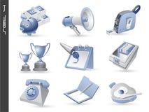 04 ikony 3d ustawiają Zdjęcie Stock