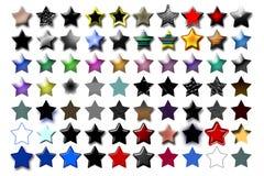 04 ilustracji 5 gwiazda Zdjęcia Royalty Free