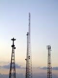 04 mâts de transmissions Image libre de droits