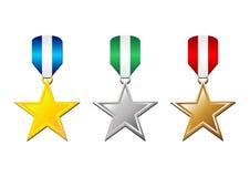 04 medalu Zdjęcie Royalty Free