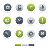04 Mixed Circle Office Icons Stock Photos