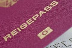 04 niemiec paszport Zdjęcie Royalty Free
