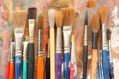 04 pędzli palety studioart Zdjęcie Stock
