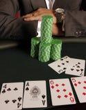 04 pokera. Obrazy Royalty Free