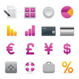 04 Purple Finance Icons. A group of coloured finance icons set Royalty Free Illustration