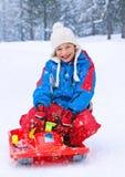 04 rodzin zabawy śnieg Obraz Stock