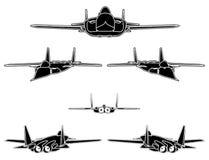 04 samolotów wojskowy vector Zdjęcia Stock