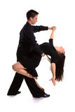 04 svarta dansare för balsal Arkivfoton