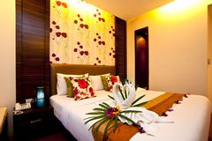04 sypialni hotelu serii Obraz Royalty Free