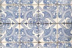 040 glasade portugisiska tegelplattor Fotografering för Bildbyråer