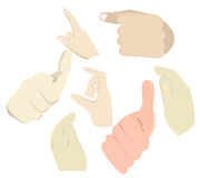 043 Hand Touch Action. Hand Touch Action set collection eps10 royalty free illustration