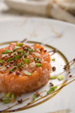 0433 salmon tartare on plate Royalty Free Stock Image