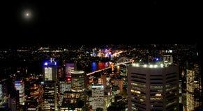 05个城市晚上 库存照片