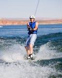 05个湖wakeboarding人的powell 免版税图库摄影